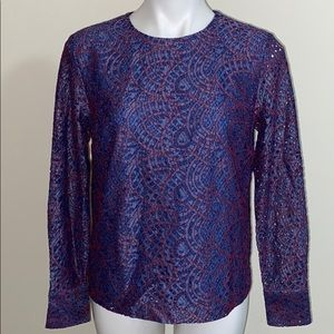 BANANA REPUBLIC long sleeves lace blouse size S